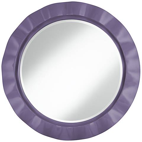 "Purple Haze 32"" Round Brezza Wall Mirror"