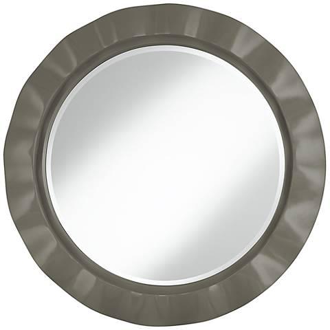 """Gauntlet Gray 32"""" Round Brezza Wall Mirror"""