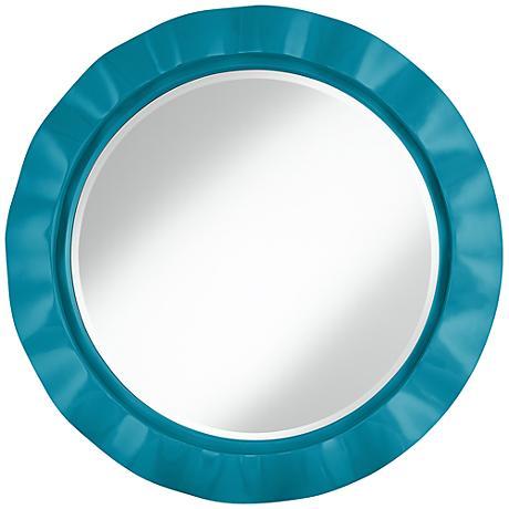 """Caribbean Sea 32"""" Round Brezza Wall Mirror"""