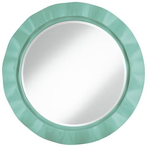 """Rapture Blue 32"""" Round Brezza Wall Mirror"""