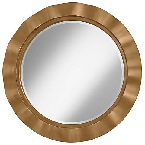 "Light Bronze Metallic 32"" Round Brezza Wall Mirror"
