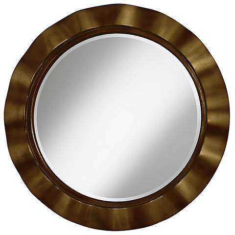 "Bronze Metallic 32"" Round Brezza Wall Mirror"