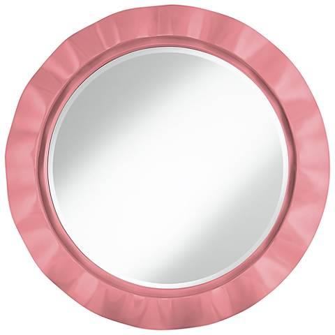 "Haute Pink 32"" Round Brezza Wall Mirror"