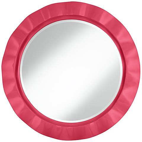 """Eros Pink 32"""" Round Brezza Wall Mirror"""