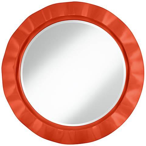 """Daredevil 32"""" Round Brezza Wall Mirror"""