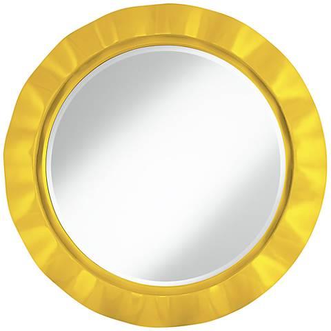 """Citrus 32"""" Round Brezza Wall Mirror"""