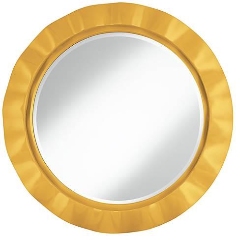 "Goldenrod 32"" Round Brezza Wall Mirror"