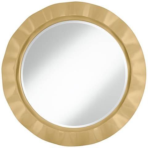 "Humble Gold 32"" Round Brezza Wall Mirror"