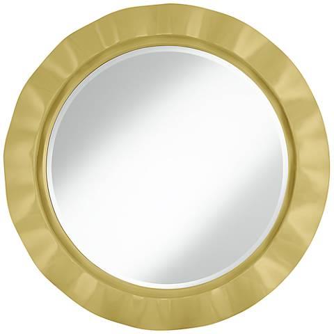 "Butter Up 32"" Round Brezza Wall Mirror"