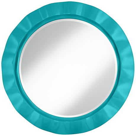 "Surfer Blue 32"" Round Brezza Wall Mirror"