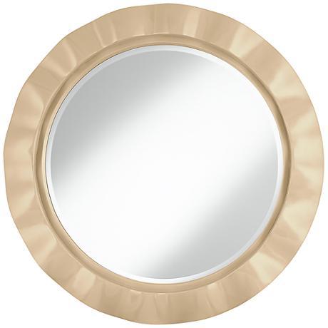"""Colonial Tan 32"""" Round Brezza Wall Mirror"""