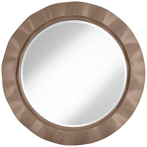 "Mocha 32"" Round Brezza Wall Mirror"