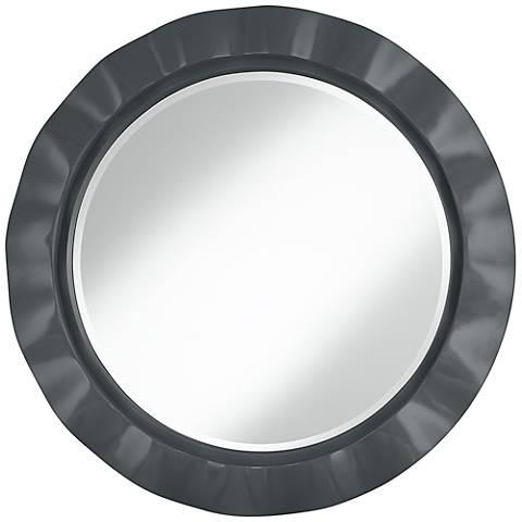 "Black of Night 32"" Round Brezza Wall Mirror"
