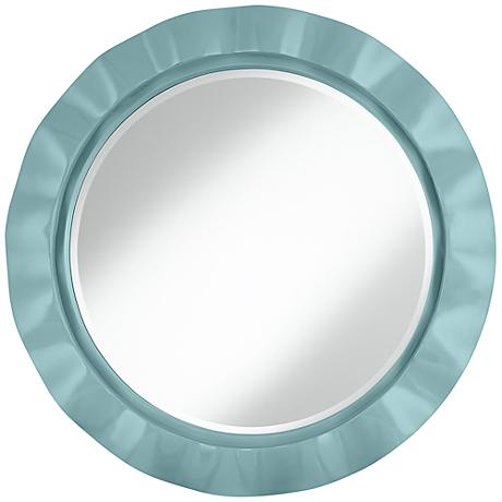 "Raindrop 32"" Round Brezza Wall Mirror"