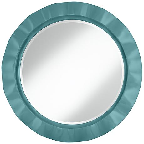 "Reflecting Pool 32"" Round Brezza Wall Mirror"