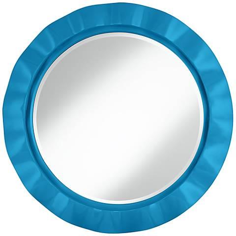 """River Blue 32"""" Round Brezza Wall Mirror"""