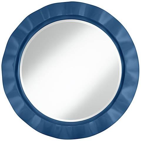 """Regatta Blue 32"""" Round Brezza Wall Mirror"""