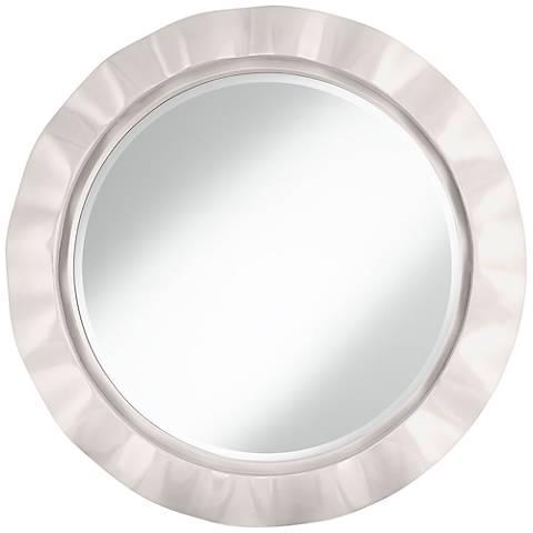 "Smart White 32"" Round Brezza Wall Mirror"