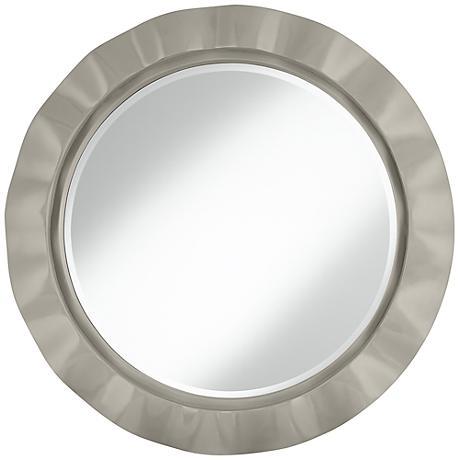 """Requisite Gray 32"""" Round Brezza Wall Mirror"""