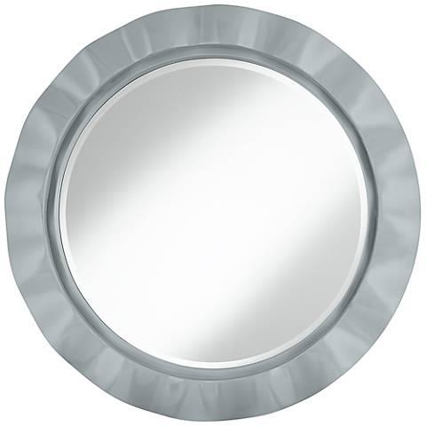 """Uncertain Gray 32"""" Round Brezza Wall Mirror"""