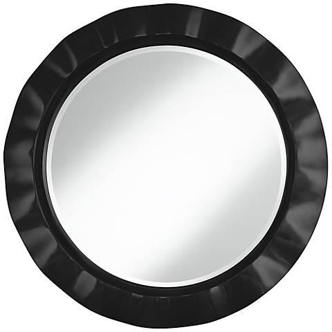 """Tricorn Black 32"""" Round Brezza Wall Mirror"""