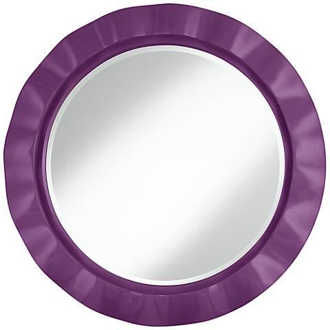 """Kimono Violet 32"""" Round Brezza Wall Mirror"""