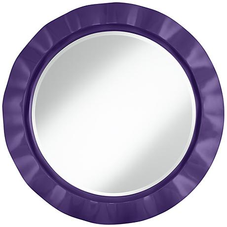 "Izmir Purple 32"" Round Brezza Wall Mirror"