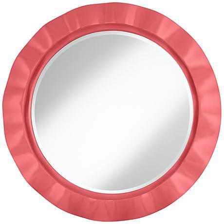 "Rose 32"" Round Brezza Wall Mirror"