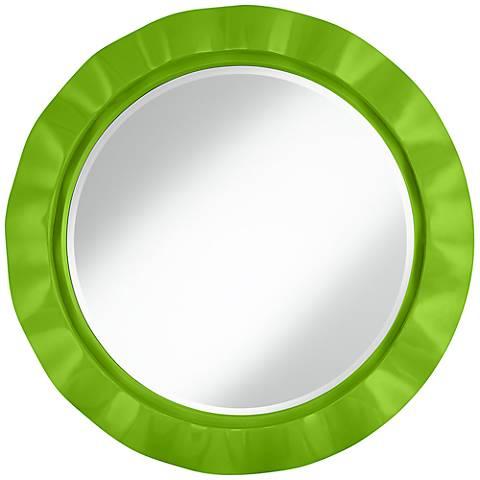 """Neon Green 32"""" Round Brezza Wall Mirror"""