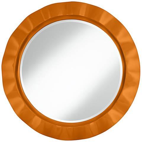 """Cinnamon Spice 32"""" Round Brezza Wall Mirror"""