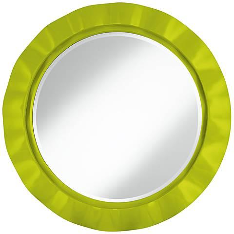 "Pastel Green 32"" Round Brezza Wall Mirror"