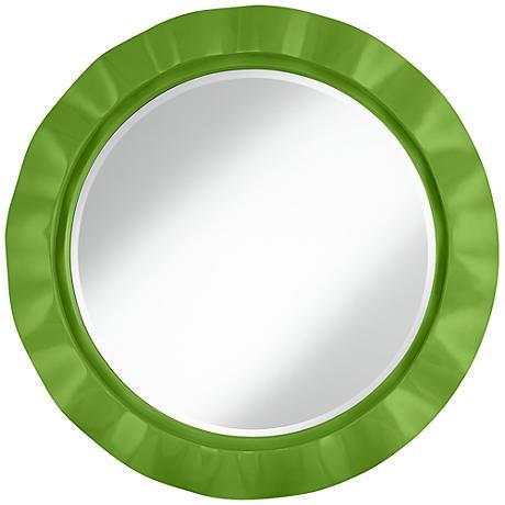 """Rosemary Green 32"""" Round Brezza Wall Mirror"""