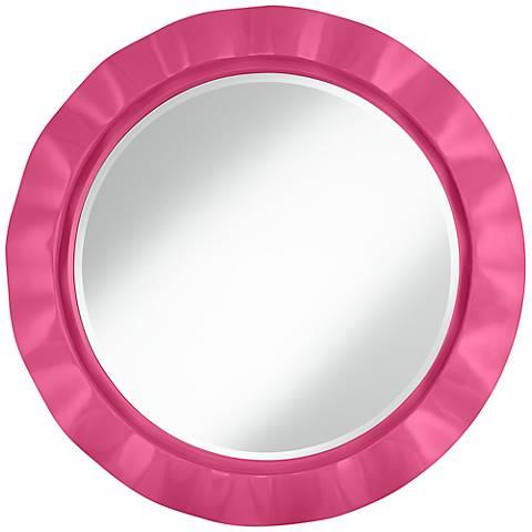"Blossom Pink 32"" Round Brezza Wall Mirror"