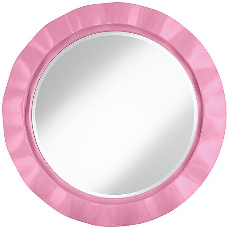 """Pale Pink 32"""" Round Brezza Wall Mirror"""