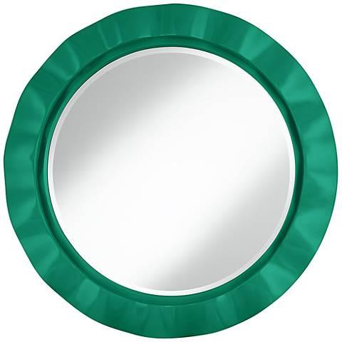"Leaf 32"" Round Brezza Wall Mirror"