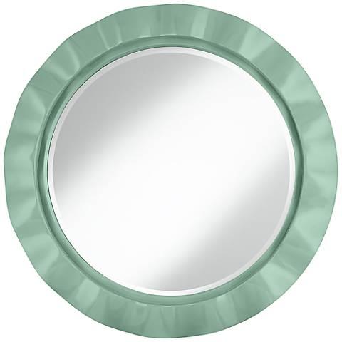 "Grayed Jade 32"" Round Brezza Wall Mirror"