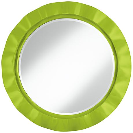 "Tender Shoots 32"" Round Brezza Wall Mirror"