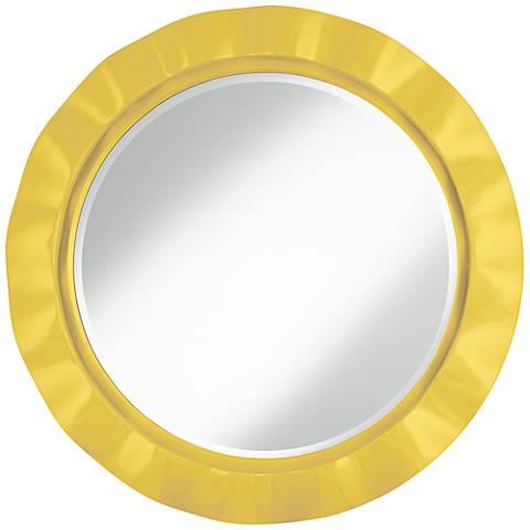 "Lemon Zest 32"" Round Brezza Wall Mirror"