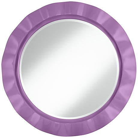 """African Violet 32"""" Round Brezza Wall Mirror"""