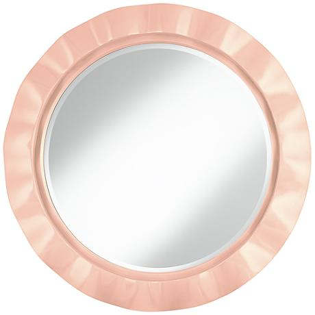 "Linen 32"" Round Brezza Wall Mirror"