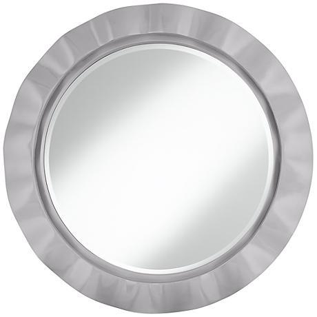 "Swanky Gray 32"" Round Brezza Wall Mirror"