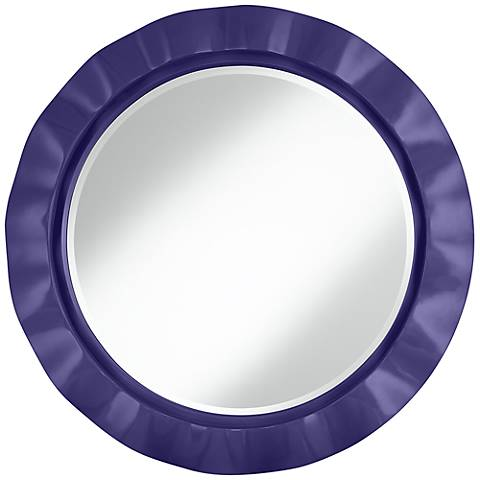 "Valiant Violet 32"" Round Brezza Wall Mirror"
