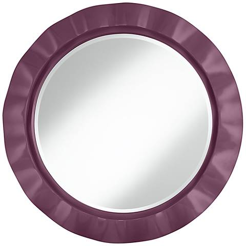 "Grape Harvest 32"" Round Brezza Wall Mirror"