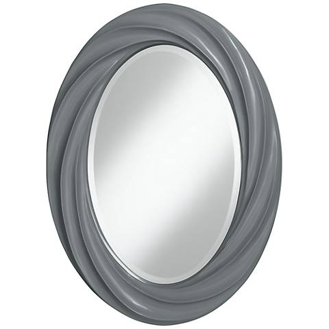 "Software 30"" High Oval Twist Wall Mirror"