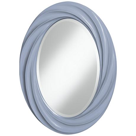 "Blue Sky 30"" High Oval Twist Wall Mirror"