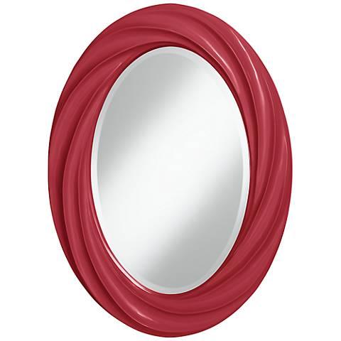 "Samba 30"" High Oval Twist Wall Mirror"