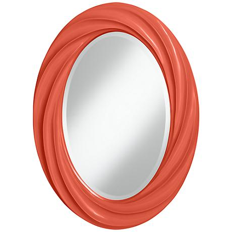 "Koi 30"" High Oval Twist Wall Mirror"