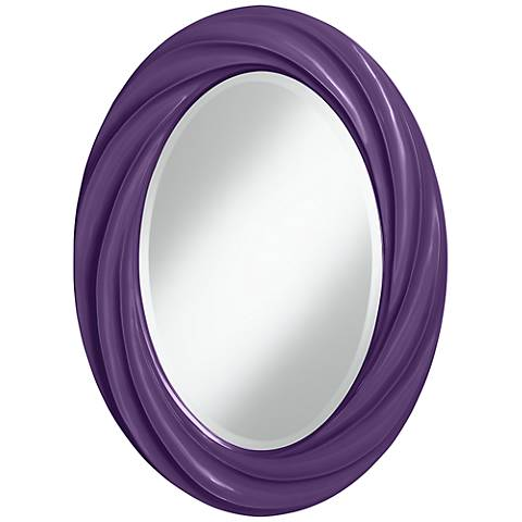 "Acai 30"" High Oval Twist Wall Mirror"