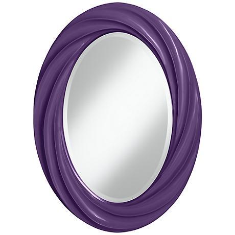 """Acai 30"""" High Oval Twist Wall Mirror"""