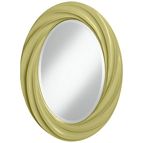 "Linden Green 30"" High Oval Twist Wall Mirror"